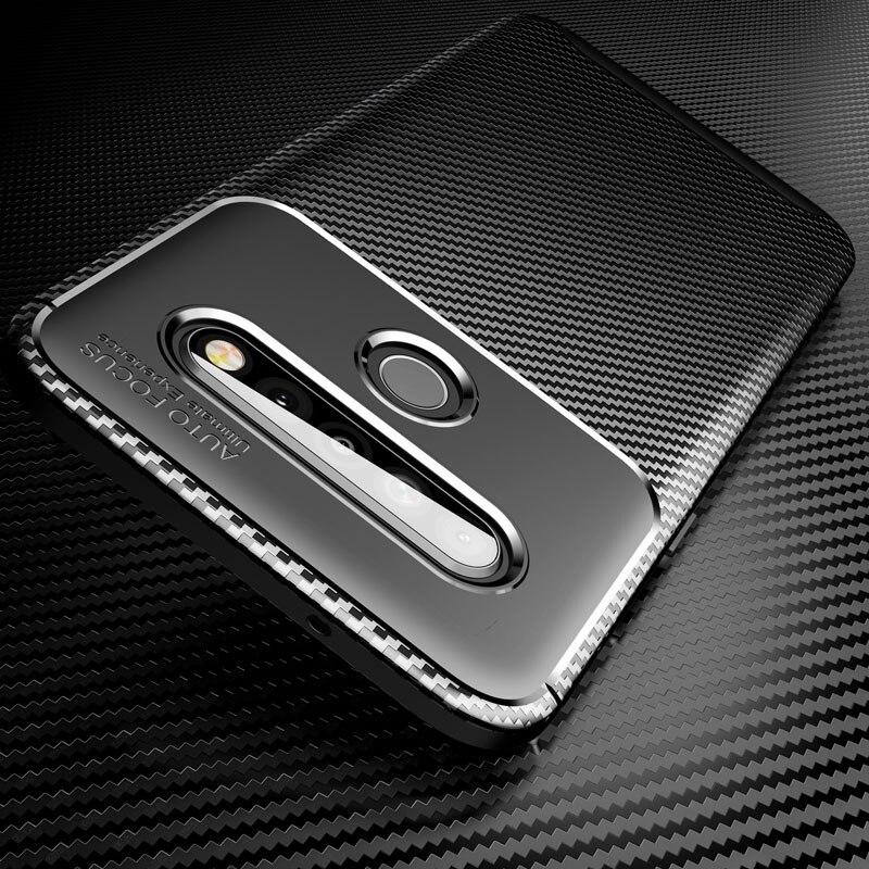 Anti-Skid Soft Case For LG V40 G8 V50 V60 Thinq K40 Stylo 5 W10 W30 K20 K40S Q70 K61 Case Carbon Fiber Silicone Back Cover Capa
