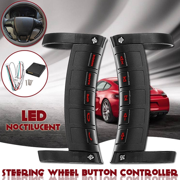 Led Wireless Car Steering Wheel Button Remote Control Bluetooth Stereo Dvd Gps