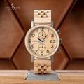 Erkek Kol Saati Luxus Marke BOBO VOGEL Neue Designs Uhr Mann Holz Band Akzeptieren Dropshipping Vater der und mannes großes Geschenk-in Quarz-Uhren aus Uhren bei