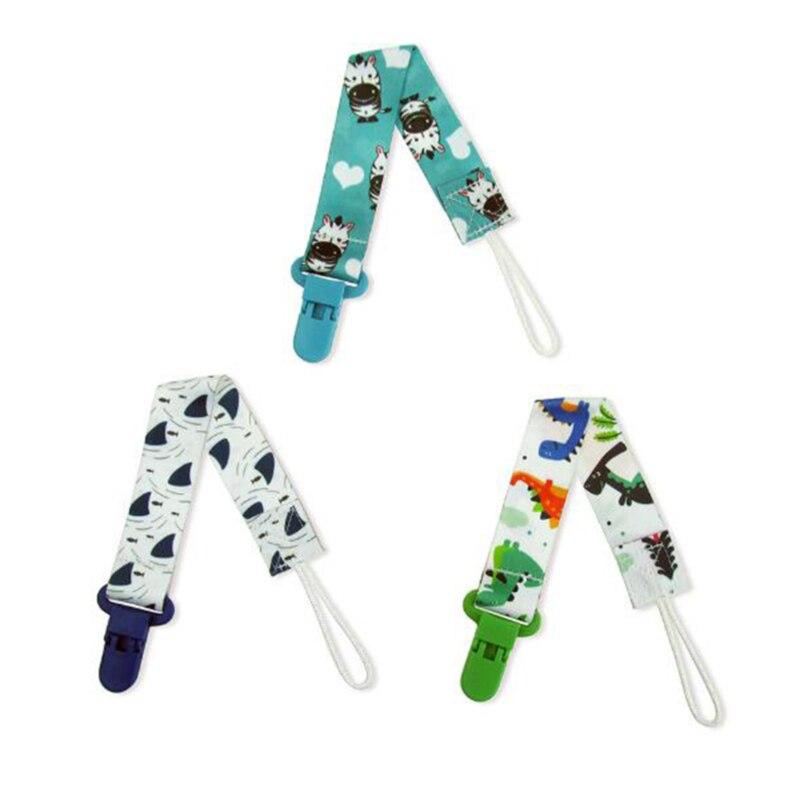 3 шт./компл., детская пустышка с зажимом, цепочка, пустышка, ниппель для клипа, держатель для детской пустышки с мультяшным принтом 5