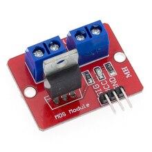 100 unids/lote TOP MOSFET botón IRF520 módulo de controlador MOSFET para ARM Raspberry pi