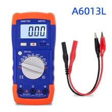 Тестер конденсатора цифровой мультиметр тестер Профессиональный Конденсатор измеритель емкости проверка конденсаторов цифровой конденсатор A6013L