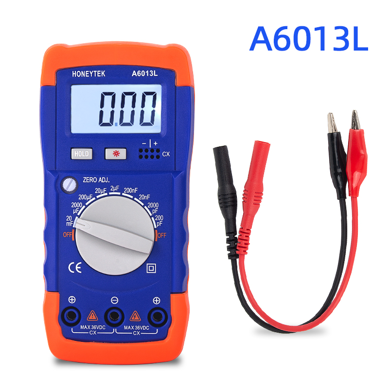 Capacitor Tester Digital Multimeter Tester Professional Capacitor Capacitance Meter Check Capacitors Digital Capacimeter A6013L