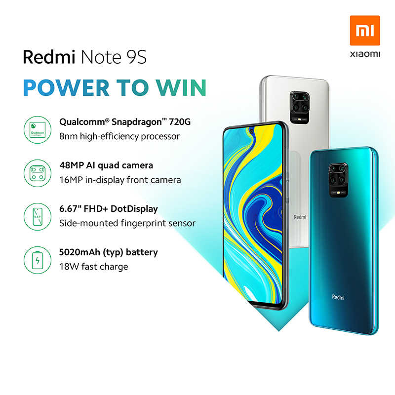 Global Version Xiaomi Redmi Note 9S 6GB 128GB Smartphone Snapdragon 720G Handy Redmi Hinweis 9 S 5020mAh 48MP AI Quad Kamera