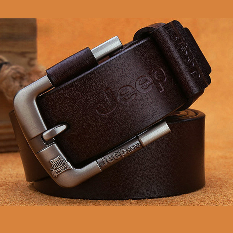 New Belt For Men Cowskin Genuine Leather Fashion Men Belts Vintage Pin Buckle High Quality Male Waist Strap Belt For Jeans 2020