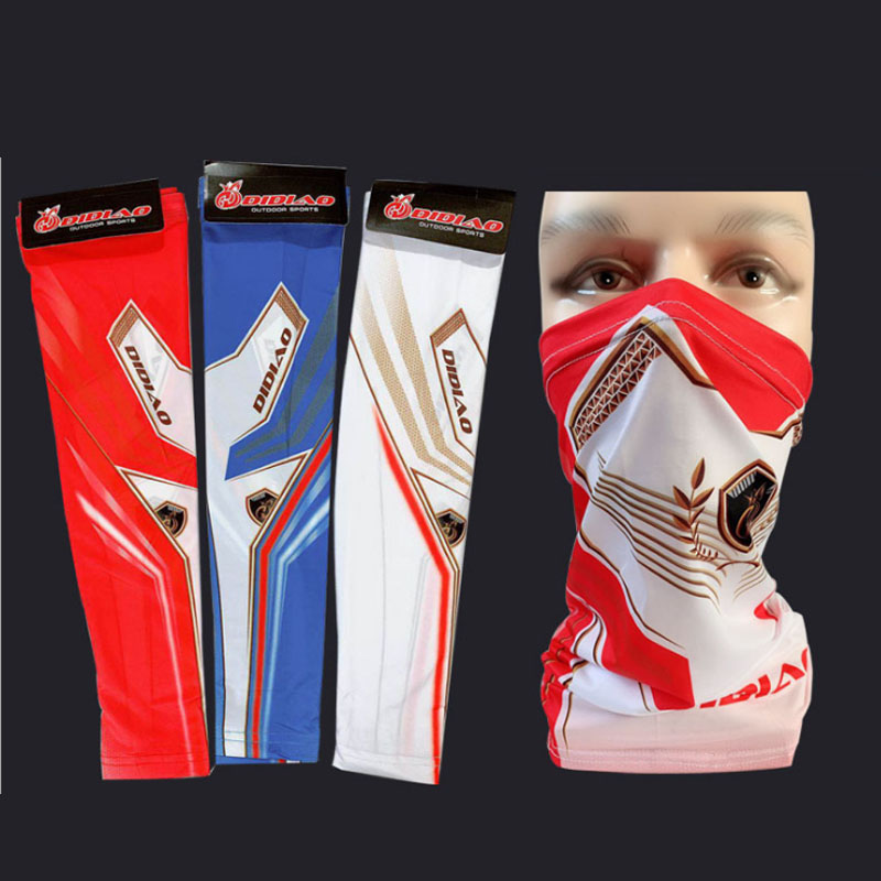 UV Arm Sleeves Outdoor Fishing Cycling Clothing Men Women Long Arm Sleeve Scarf Summer Running Driving Fingerless Glove Bandana