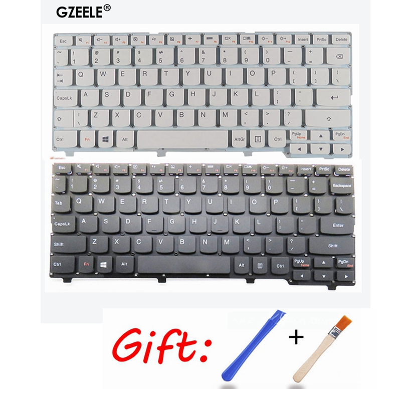 New US Laptop Keyboard For Lenovo Ideapad 100S 100S-11IBY English Keyboard Black/white