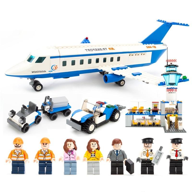 GUDI City International Airport Aviation Aircraft VIP Space Buildings Blocks Sets Kits Bricks Model Kids Toys Creator Compatible