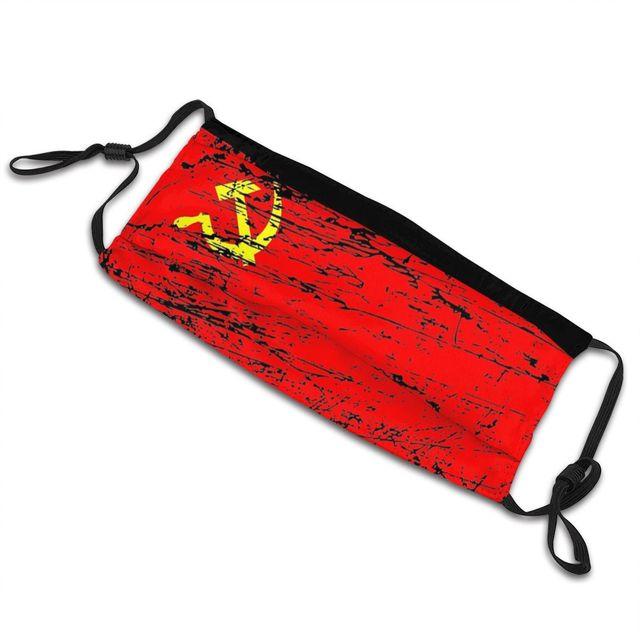 Маска для лица с флагом СССР, России, Коммунистическая социалистская противодымчатая Пылезащитная маска, респиратор для рта 5