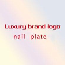 2020nova marca de luxo logotipo da placa de carimbo do prego modelo imagem da arte do prego placas de carimbo manicure conjunto estêncil para o carimbo do prego