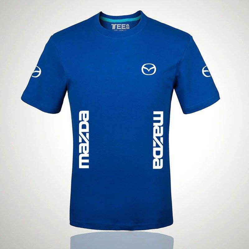 New Fashion Short Sleeve T-shirt Men Mazda Print T Shirt O-neck Shirts Tops Clothes Tee
