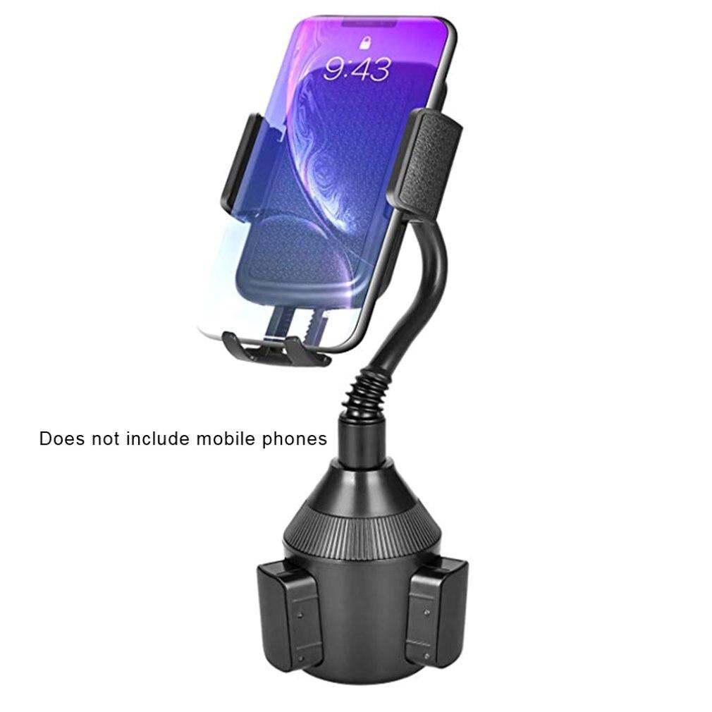 Universal Car Mount Adjustable Gooseneck Cup Holder Cradle for iPhone Cell Phone Stand Bracket for samusng Plastic Car Phone Hol
