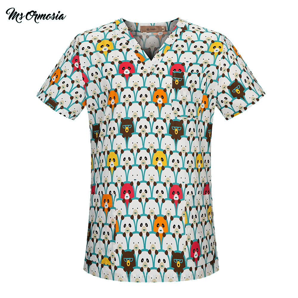 Hospital Nurse Scrub Tops High Quality Medical Surgical Uniform Cartoon Beauty Salon Dentist Clinic Pharmacy Pet Doctor Uniforms