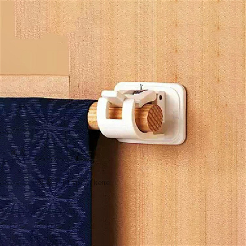 2PCS New Curtain Rods Retaining Clip Hooks Shower Curtain Rod Fixed Clip Hanging Rack Hook Curtain Rod Brackets Hardware TSLM2