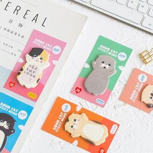 Image 3 - Lovely Cat Sticky Note Cartoon Cute Cat Shape Memo Pads 40pcs/lot