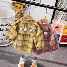 MOMKER Toddler Kids Baby Girl Plaid Shirt Casual Princess T Shirt Tops Clothes