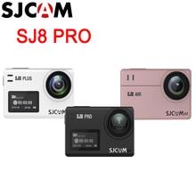 Sjcam câmera de ação original de séries sj8, câmera de ação de esporte extremo, sj8 air/sj8 plus/sj8 pro, com wi fi e controle remoto, à prova d água dv esportes