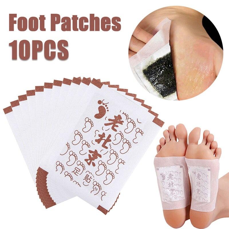 10 шт детоксикационные подушечки для ног пластырь тела уход за ногами похудения