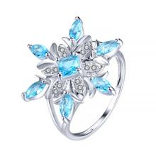 Silver Natural Snowflakes Flower Antique Ring  Snowflakes Jewelry Gifts snowflakes on silver cove