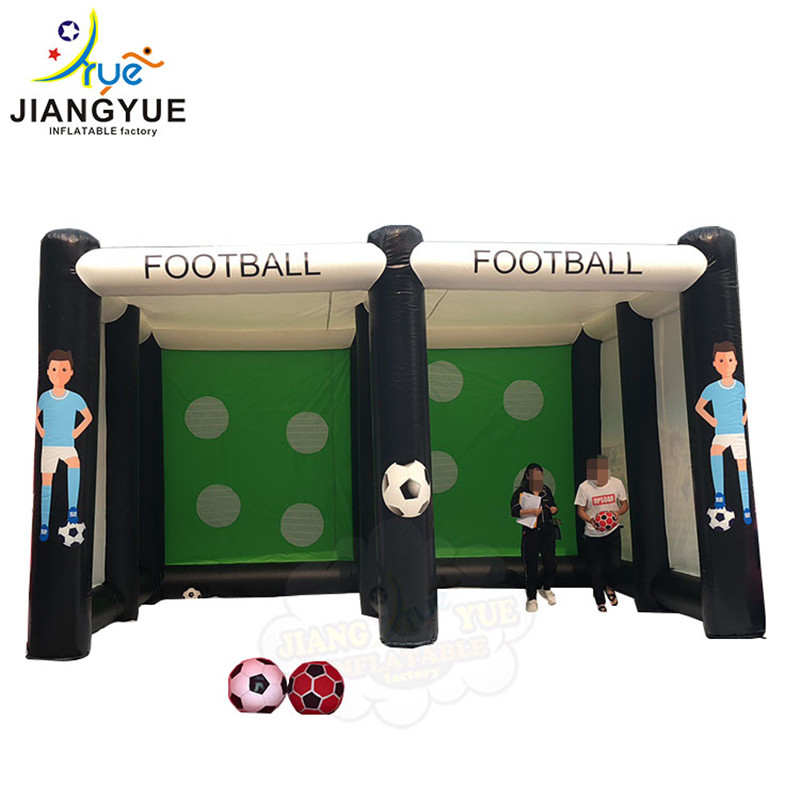 4.2m Customized Popular Inflatable Football Dart Shooting Soccer Shoot Out Goal Gate Door Target Outdoor Game