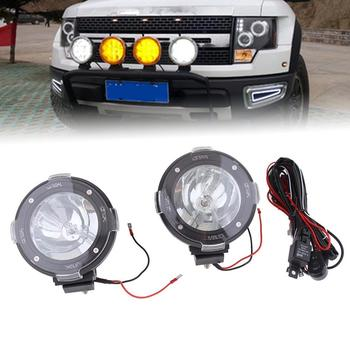 цена на 1Pair 100W 12V Xenon HID Work Light Spot Beam ATV SUV Truck Cross-country Red Fog Light Work Lamp Off Road Light