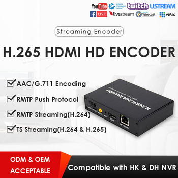 H.265 1080P HDMI Network Video Encoder for IPTV Video Surveillance or Live Streaming to YouTube  W/RTMP TS UDP ONVIF  Hikvision bluetv hongkong taiwan chinese live channels video on demand iptv box