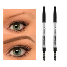 24pcs/lot It Cosmetics It Brow Power Universal Brow Pencil 0.16g Double-headed Brown Waterpoor Eyebrow Pencil Eyebrow Brush