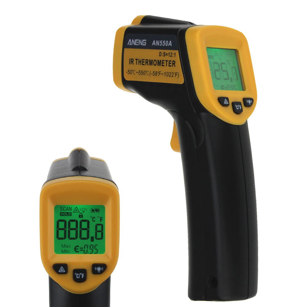 AN550A LDC Infrared Thermometer -50~550 Termometr Thermometer Thermostat Thermal Camera Hygrometer Weather Station image