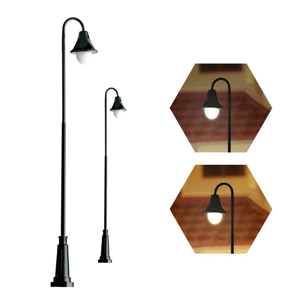 30Pcs 1//100 Model Mini Garden Street Railway Lights Lamps Sand Table Accs