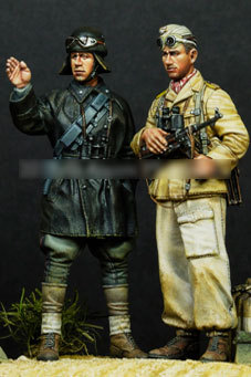 [tuskmodel] 1 35 scale resin model figures kit 2 figures A35104 1