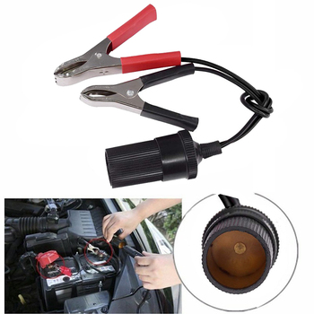 Car Battery Terminal Clamp Clip 12V Vehicle Cigarette Lighter Female Batteries Socket Power Adapter Jumper Connection Cable image