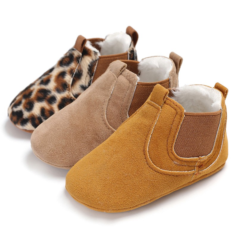 Autumn Winter Thicken Newborn Baby Shoes Baby Girls Boys Breathable Anti-Slip Casual Sneakers Toddler Soft Soled Walking Shoes