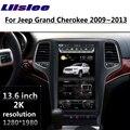 LiisLee Car Multimedia For Jeep Grand Cherokee WK2 2009 2010 2011 2012 2013 NAVI GPS WIFI Audio Radio Navigation MAP 13.6 inch