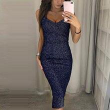 40 # lantejoulas vestido de luxo sem mangas moda feminina cor sólida suspender com decote em v sexy vestidos magros longos de verao
