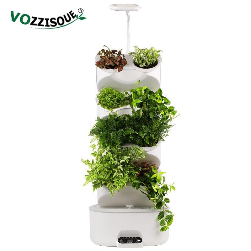 Indoor Garden Smart Self Watering Pot Bonsai Planter Nursery Pots Plastic Flower Pot Hydroponic Kit Vertical Hydroponics System