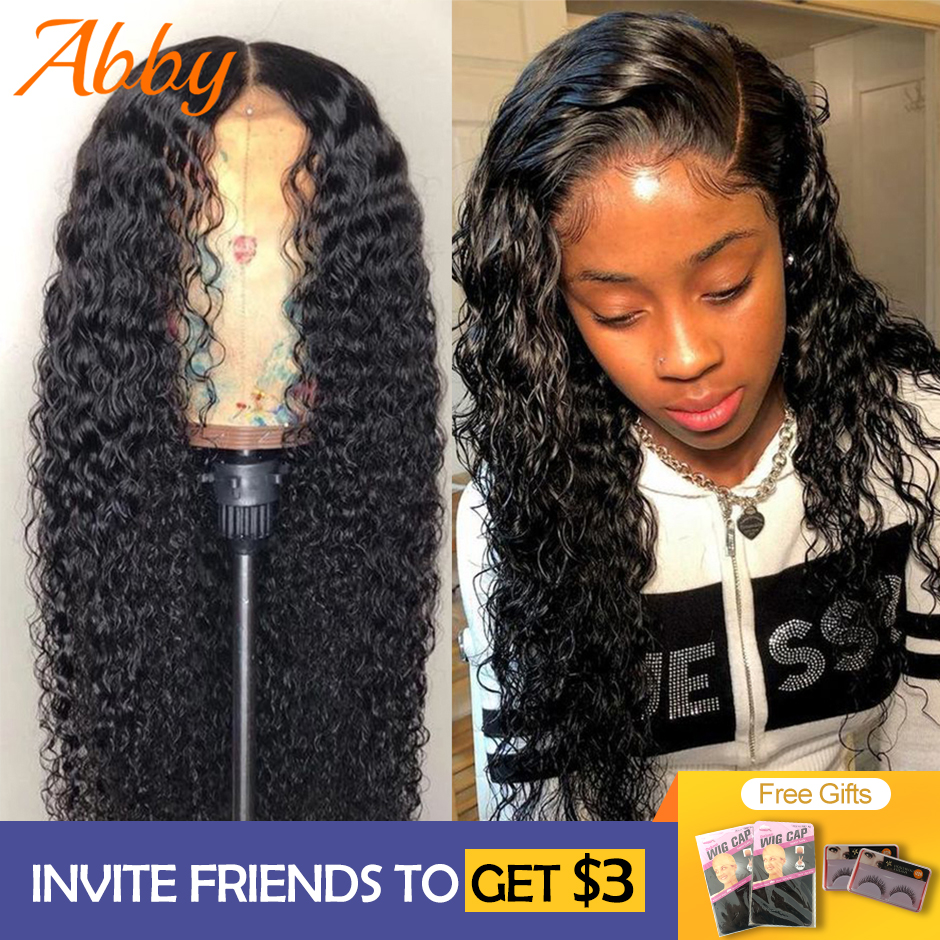 ABBY Water Wave Human Hair Wigs 13X4 Lace Front Wigs For Women 150%/180% Density Peruvian Water Wave Lace Front Human Hair Wigs