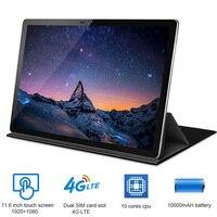 BMXC Оригинальный Новый 11,6 дюймов 2 в 1 планшет Android 4G LTE MTK6796 10 ядер планшет для рисования 256 ГБ rom планшет с клавиатурой tab