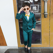 Kids Dress Suits Boys Child Wedding Formal Party Suit 4 Piec