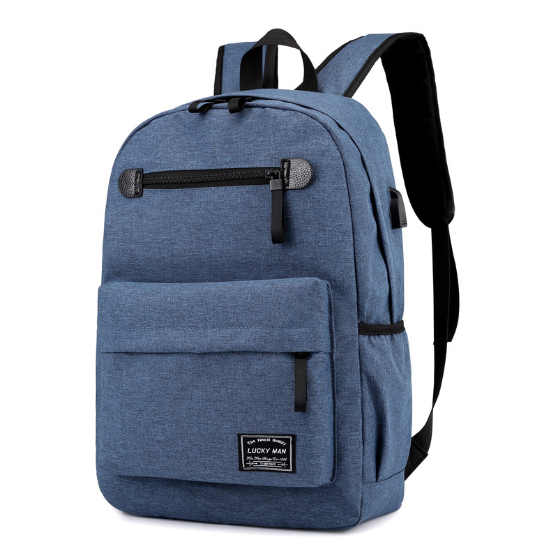 Backpack Young MEN'S Cool Fashion Korean-style Backpack Men's Campus Large Capacity Travel Bag Middle School Students School Bag