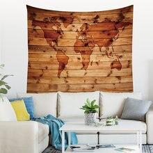 Tapisserie murale à motif carte du monde, couverture suspendue Chic et miteuse, décoration de maison, de ferme, impression Sur Tissu à la Machine
