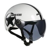 Motorcycle Helmet Half Open Face Adjustable Size Protection Gear Head Helmets Unisex Five pointed Star
