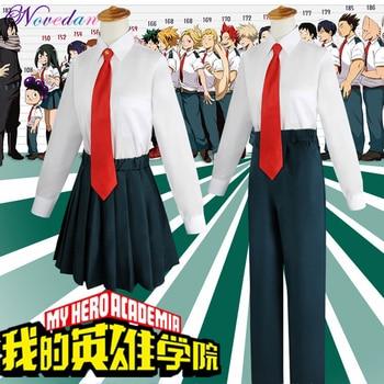 My Hero Academia Midoriya Izuku Cosplay Costume Anime Boku No OCHACO URARAKA Tsuyu Asui Summer School Uniform