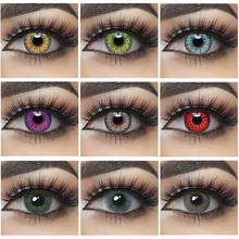 2pcs Pair Contact Lenses Colored Contact Lenses for Eyes Colored Yearly Blue Brown Colorful Beauty Eye Contact Lenses Eye Color cheap Chosenior CN(Origin) 14 0-14 5 Two Pieces 0 04-0 06 mm HEMA Beautiful Pupil Red Lens Halloween Contact Lenses Color Lenses