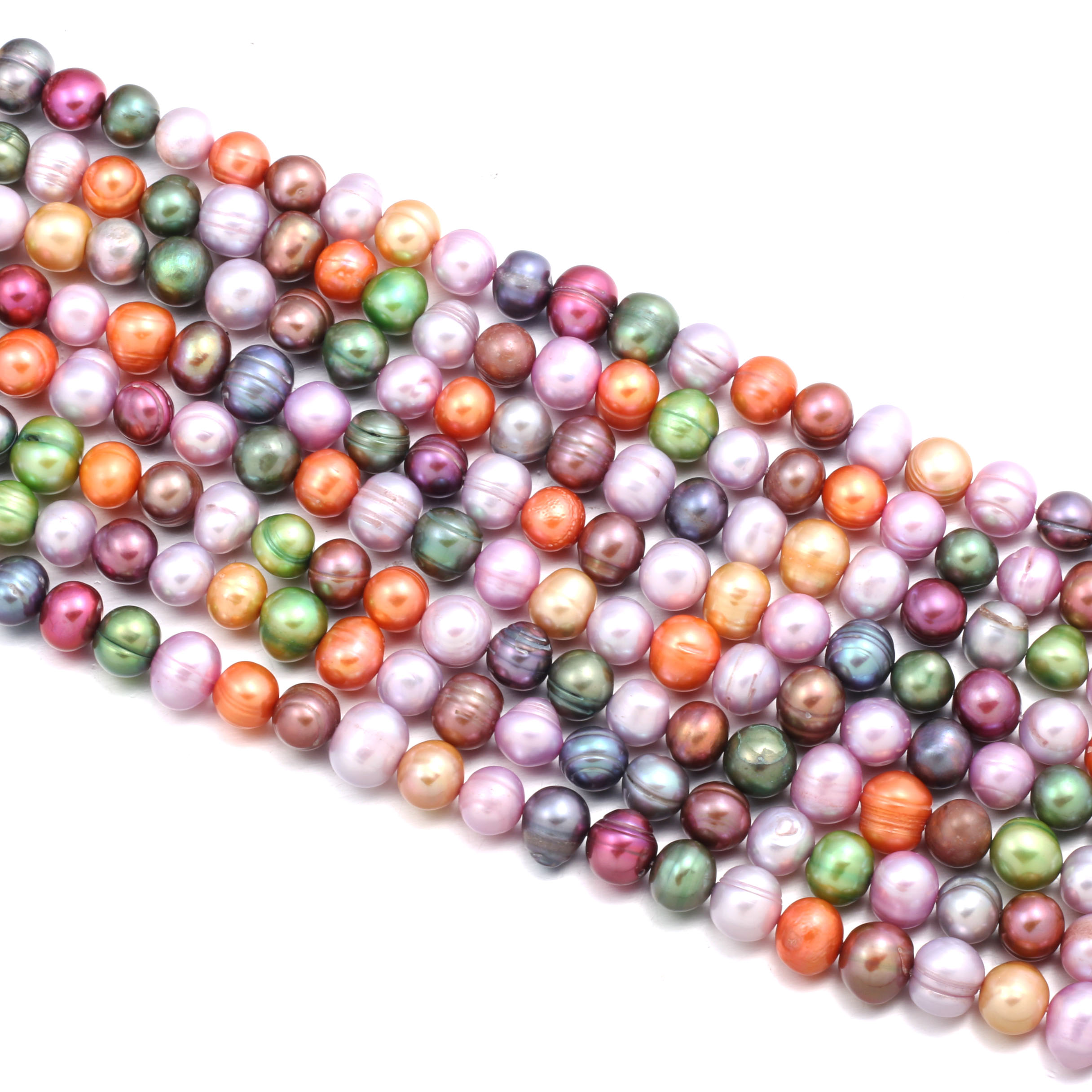 Natural Freshwater Pearl Beading High Quality 36cm Mixing Color Round Punch Loose Beads for DIY Jewelry Making Necklace Bracelet
