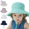 Летняя Детская Солнцезащитная шляпа для мальчиков, детская Панама, унисекс, Пляжная Панама для девочек, Мультяшные шапки для младенцев с УФ-...