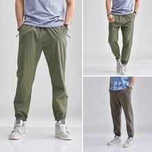 INCERUN 2020 Men Baggy Streetwear Pants Elastic Waist Solid Color Joggers Long Trousers Fashion Casual Men Cargo Pants Harajuku