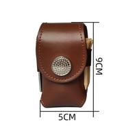 Bolsa para pelota de Golf, bolsa de cuero con gancho, diseño de Corea, a la moda, cinturón