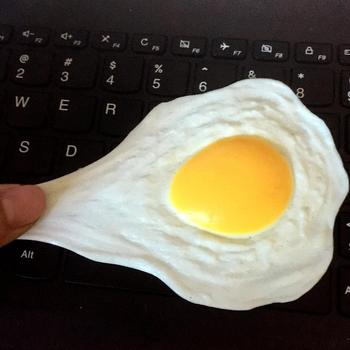 Funny Fried Lifelike Egg Relieve Stress Toys Omelette Anti-stress Adults Kids Healing Toy Pressure Reliever Relief
