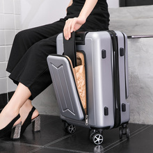 Travel Suitcase 24 Inch Front Pocket Rolling Luggage Trolley Password Box 20' Boarding Suitcase men Women Travel Bag Trunk