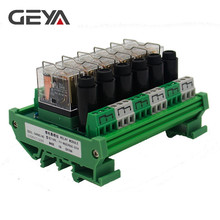 GEYA NGG2R Din Rail 6 Channel Relay Module with Fuse Protection Ormon Relay PLC Price fuse module din rail mount 8 channel fuse power distribution module board